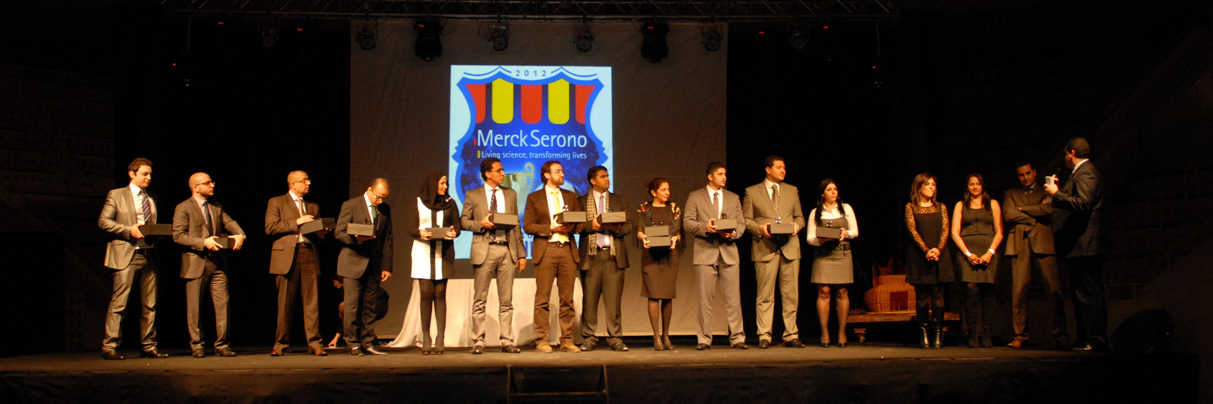 Project: Merck Serono Middle East - 200 Pax - Awards Gala Dinner at MNAC - Barcelona 2012